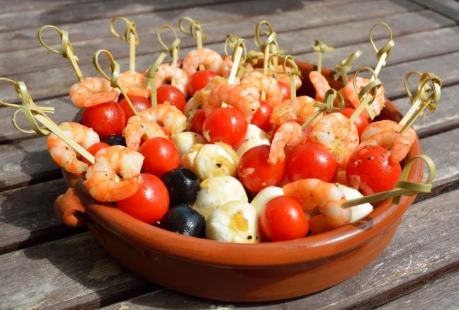Garnelen-Tomate-Mozzarella Spieße von Katharina