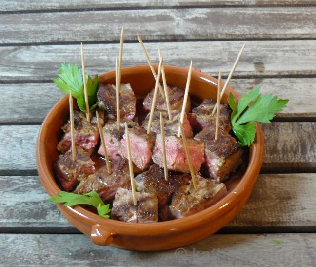Scharfe Steak-Häppchen von Katharina